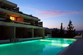 foto of villa  - Sunset at the luxury villa Crete Greece - JPG