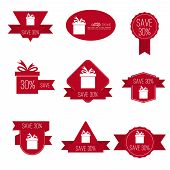 Gift stickers with discount offer.