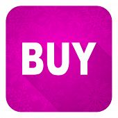 buy violet flat icon, christmas button
