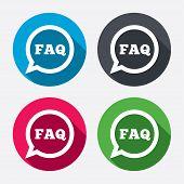 FAQ information sign icon. Help symbol.