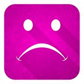 cry violet flat icon, christmas button