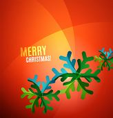 Modern Abstract Christmas Card with snowflake