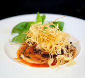 Parmigiana, Italian Food With Eggplant, Tomato And Cheese.