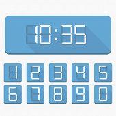 Digital Numbers And Clock