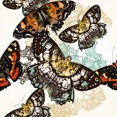 Butterfly Seamless Pattern With Colorful Butterflies