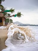 Stormy day in the beach of Chaweng in Koh Samui island Thailand