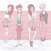 Young Fashion Girls