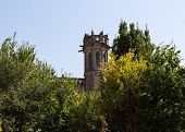 Church Tower in Carcassonne