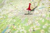 An image of a map shows Munich in Germany - source from openstreetmap.de