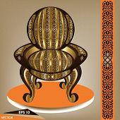 Luxurious Arabian Handcrafted Armchair