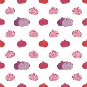 Vector seamless pomegranates pattern