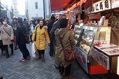 Tourists Visit Dotonbori On December 13, 2014 In Osaka