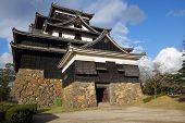 Front View Of Matsue Samurai Feudal Castle In Shimane Prefecture