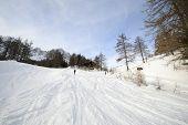 Ski Slope In Scenic Valley