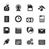 Silhouette Phone Performance, Business and Office Icons