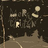 Funny Typography Christmas Background