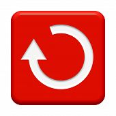 stock photo of reboot  - red Button with Update Symbol for your website - JPG