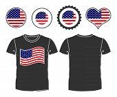 t-shirt with USA flag