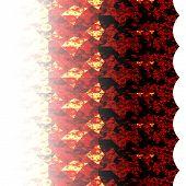 Gradient Red Fractal Flower Hexagon Pattern