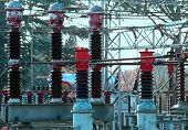 Big Electrical Breaker Of A Power Plant