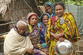 Women wait for their husbands from fishing, Mongla, Bangladesh.