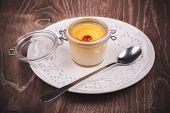 Sweet Creme Brulee In Jar