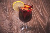 Red Mulled Wine In Glass