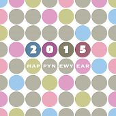 New Year Card Template - 2015