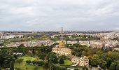 Administration Building And Radio Masts At Vatican City