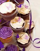 Wedding Cake -closeup On Beautiful Yummy Cupcakes