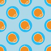 Oranges Pattern. Seamless Texture With Ripe Oranges
