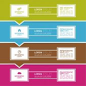Comparative chart with templates for presentation