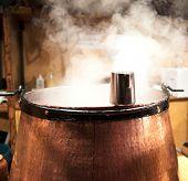 Steaming Mulled Wine Boiler