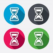 Hourglass sign icon. Sand timer symbol.