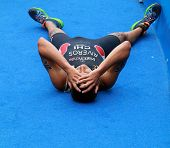Gaspar Riveros Exhausted After Race