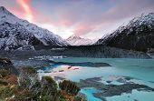 Sunset at Aoraki Mt Cook National Park, New Zealand