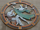 Art deco medallion