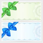 stock photo of ribbon bow  - Voucher - JPG