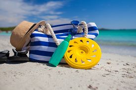 picture of frisbee  - Beach bag - JPG