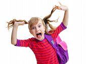 stock photo of minx  - little schoolgirl dabbles - JPG