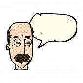 image of annoying  - cartoon annoyed old man with speech bubble - JPG