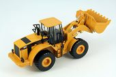 picture of bulldozer  - Yellow plastic dredge toy - JPG