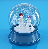 Snowmans In A Snowglobe