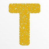 stock photo of letter t  - Vector colorful English or Latin alphabet items with grain texture - JPG