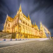 image of hungarian  - View of hungarian Parliament building at Budapest - JPG
