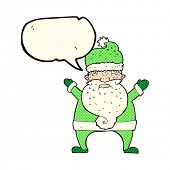 pic of ugly  - cartoon ugly santa claus with speech bubble - JPG