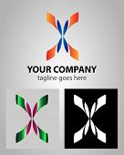 stock photo of letter x  - Letter X logo icon design template elements abstract symbol - JPG