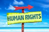 picture of human rights  - Human Rights sign with beach background - JPG
