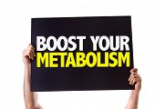 image of enzyme  - Boost Your Metabolism card isolated on white - JPG