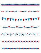 pic of divider  - Blue and res stars and stripes divider  - JPG